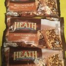 3-pack Heath Milk Chocolate English Toffee Bits Bar 8 ounce bags Ex 08/17 New