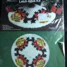 Vintage Sew Simple Latch Hook Rug Christmas Tree Skirt Kit Joyful Bells J127 USA