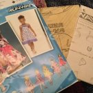 Simplicity Patterns 2989 Toddler Girls AA 1/2 1 2 3 Project Runway Dress
