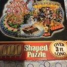 1000 Piece Shaped Puzzle Fantasy Fair Picture 3 Feet Long Ferris Wheel Coaster