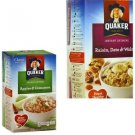 Quaker Apples Cinnamon Raisin Date Walnut Instant Oatmeal 20 Packs Individual