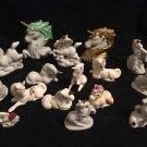 Vintage Unicorn Lot Of 16 Ceramic Heads Laying Raised Bells Kneeling