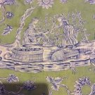 Scalamandre Fabric Winegrowers Blue Grass Green 4 Yards Wine Growers OOP 16311