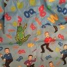 Wiggles Curtain Set Long Panel Valences Tie Backs Blue Kids Dorothy Dinosaur