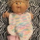 Cabbage Patch Doll 2005 Blond Hair Blue Eyes Curly Girl Pacifier Mouth