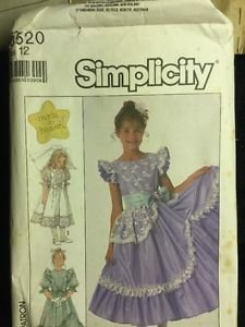 Simplicity Pattern 8520 Girls Dress Size 12 Made In Heaven Frilly Easter