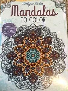 Adult Coloring Book Mandalas 2 Patterns Kappa Designer Series Stress Relief