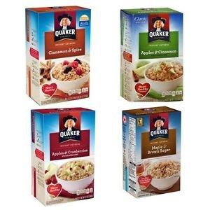 Quaker Instant Oatmeal 38 Individual Packs Cinnamon Spice Apple Maple Cranberrie