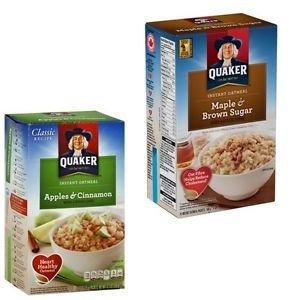 Quaker Apples Cinnamon Maple Brown Sugar Instant Oatmeal 20 Packs Individual