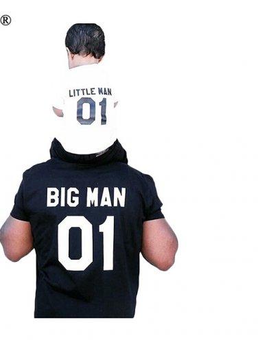 Father Son Matching Big Man Little Man Shirts