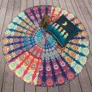 Beach Towel Round Printed Large Circular Bath Towel Sun Block Shawl Yoga Mat