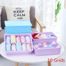 Plastic Underwear Storage Box With Cover Socks Bra 15 Grids No Grids 10 Grids