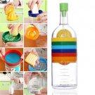 Gadgets Multifunction 8 in 1 Kitchen Tools Bottle Shape Grinder Measuring Cup