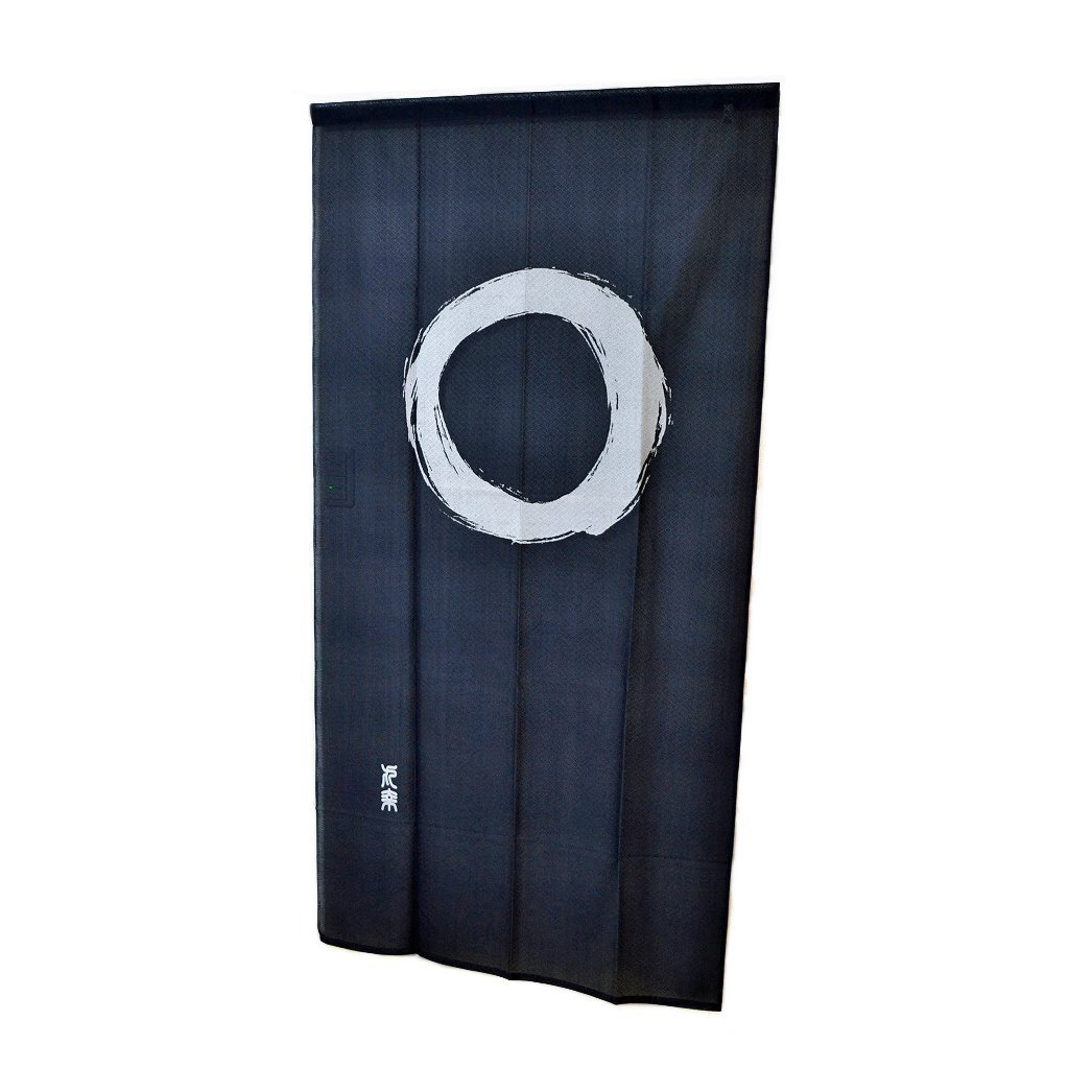 Noren Curtain Tapestry Enso Circle Long Type Japan Blue