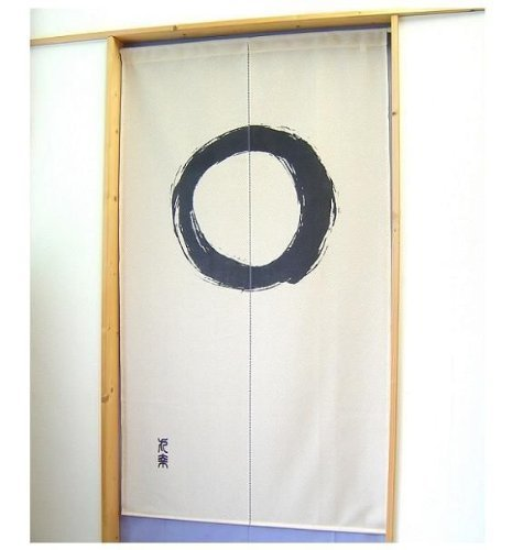 Noren Curtain Tapestry Enso Circle Beige