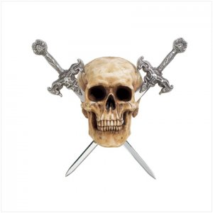 Skull with Swords Letter Opener