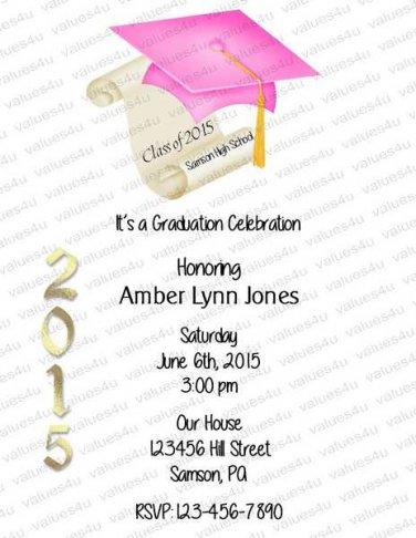 Personalized Graduation Invitations (graduation953)