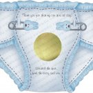Die Cut Baby Shower Game Scratch Off Diapers (ccdiaperscratchoff103)