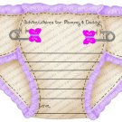 Personalized Die Cut Diaper Baby Shower Advice Card (ccdiaperadvicecard119)