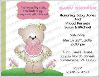 Personalized Baby Shower Invitations (babygirl2237)