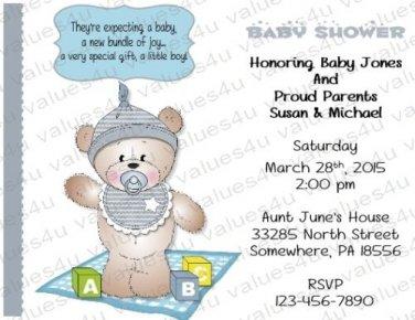 Personalized Baby Shower Invitations (babyboy1226)