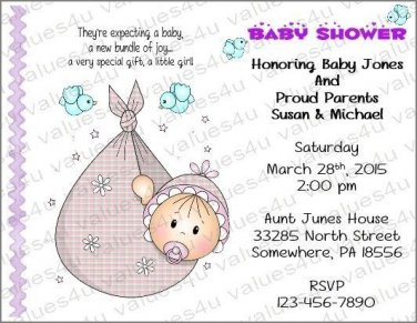 Personalized Baby Shower Invitations (babygirl2232)