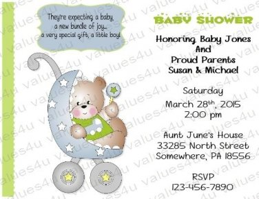 Personalized Baby Shower Invitations (babyboy1230)