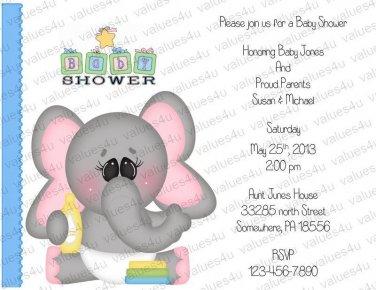 Personalized Baby Shower Invitations (babyboy1203)