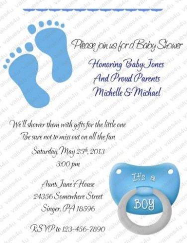 Personalized Baby Shower Invitations (babyboy1218)