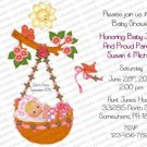 Personalized Baby Shower Invitations (babygirl2216)