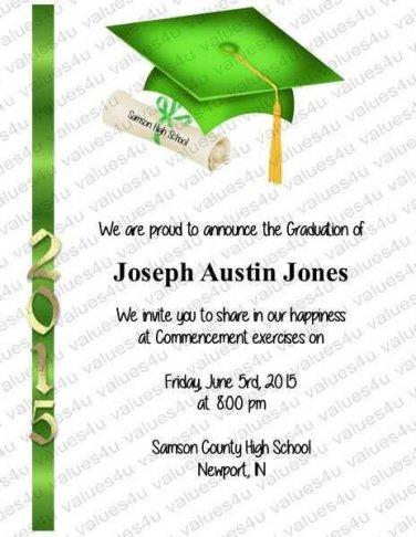Personalized Graduation Commencement Invitations (graduationcommencement907)
