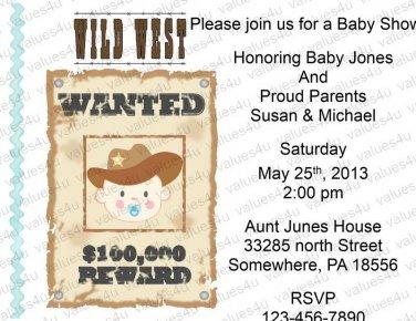Personalized Baby Shower Invitations (babyboy1200)