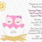 Personalized Baby Shower Invitation (baby Girl2217)