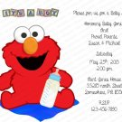 Personalized Flat Baby Shower Invitations (babyboy 1183)