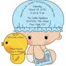 Contour Cut Laser Guided Baby Shower Invitation (ccbabyboy102)