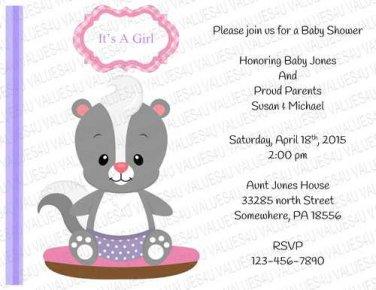 Personalized Baby Shower Invitation (babygirl2246)