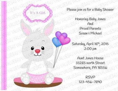 Personalized Baby Shower Invitation (babygirl2245)