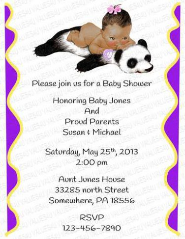 Personalized Baby Shower Invitation (babygirl2250)
