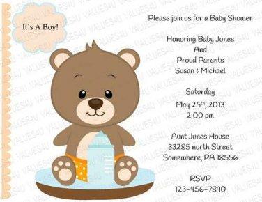 Personalized Baby Shower Invitation (babyboy1241)