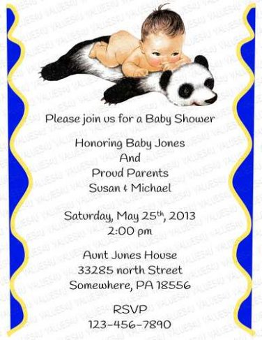 Personalized Baby Shower Invitation (babyboy1242)