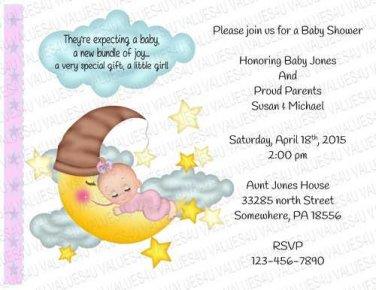 Personalized Baby Shower Invitation (babygirl2253)