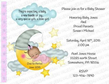 Personalized Baby Shower Invitation (babygirl2254)