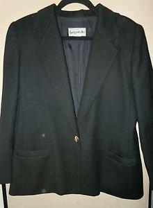 Vintage Womens Bagatelle 100% pure wool black jacket size M