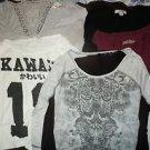 Lot of 5 juniors womens top tshirts shirts size M