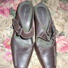 Womens dark brown slip on leather Merona shoes size 5 1/2