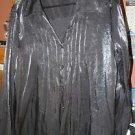 Women's Plus White Stag Black button front blouse size 18/20 2X