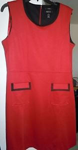 Womens Style & Co Stretch red/black dress size 14