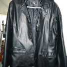 Mens EA Collection black faux leather jacket size L