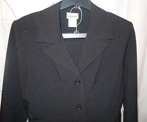 Juniors Fashion Bug 3 pc black pin striped pant skirt jacket suit set size 11/12
