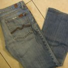 Womens Juniors 7 For All Mankind blue denim designer jeans size 31